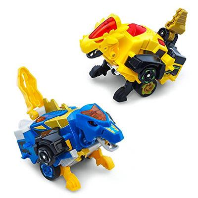 Дино-Трансформер - Круз и Спиннер (VTech Switch & Go Dinos - Bipedal Turbo Dinos 2-pack with Cruz and Spinner) (фото)