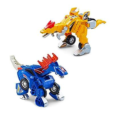 Дино-Трансформер - Куивер и Стомпсалот (VTech Switch & Go Dinos - Incredible Speed Dinos 2-pack with Quiver & Stompsalot) (фото)