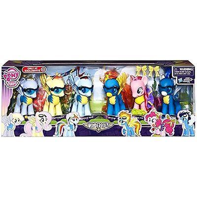 Эксклюзивный набор пони 14 см. (My little pony exclusive Wonderbolts 6 figure gift set including derpy hooves by My Little Pony)