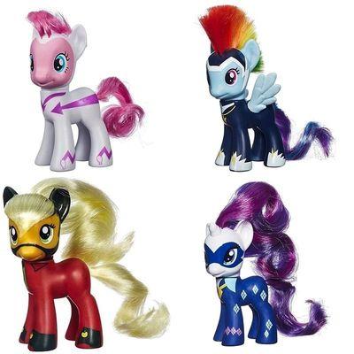 Набор пони - могучие пони в индивидуальной коробке каждая (My Little Pony POWER PONIES - Pinkie Pie, Applejack, Rainbow Dash, Rarity) (фото)