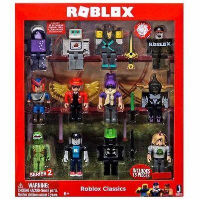 Эксклюзивный набор Роблокс 2-я серия из 12 классических коллекционных фигурок Роблокс (Roblox Classics Series 2 Target Exclusive 12pk Figurines)
