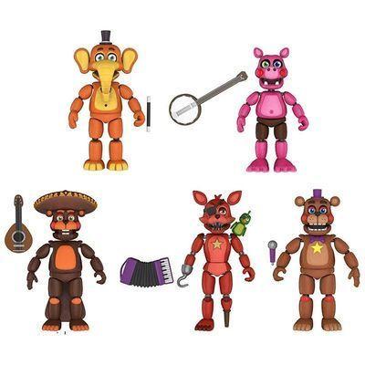 Набор из 5-ти фигурок серии - Симулятор Пиццы (Funko Five Nights at Freddys Pizza Simulator Series 4 Articulated Action Figures (Set of 5)) (фото)