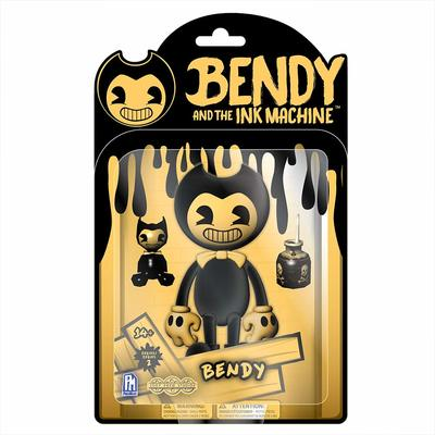 Бенди и чернильная машина: Подвижная фигурка Желтый Бенди 2-серия (Bendy and the Ink Machine : Yellow Bendy Action Figure)