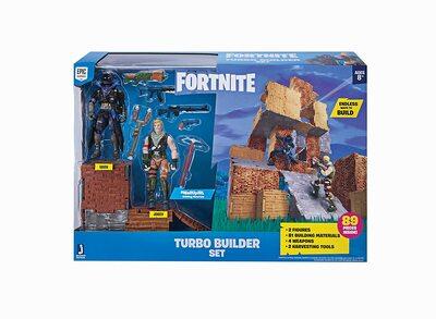 Конструктор Фортнайт - Turbo Builder - Джонси и Ворон (89 деталей) (Fortnite FNT0036 Turbo Builder Set 2 Figure Pack, Null) (фото)