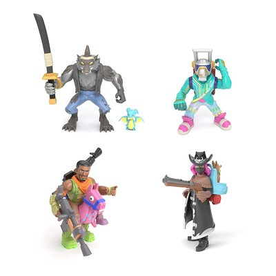 Коллекция Королевской битвы Фортнайт: набор из 4 фигурок (Эм Си Лама, Тёмный рейнджер, Оборотень и Наездник) (Fortnite Battle Royale Collection: Squad Pack - DJ Yonder, Calamity, Dire & Giddy-Up) (фото)