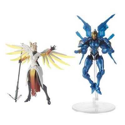 Ангел и Фарра - Набор фигурок Overwatch (Hasbro Overwatch Ultimates Series Pharah & Mercy Dual Pack Collectible Action Figures) (фото)