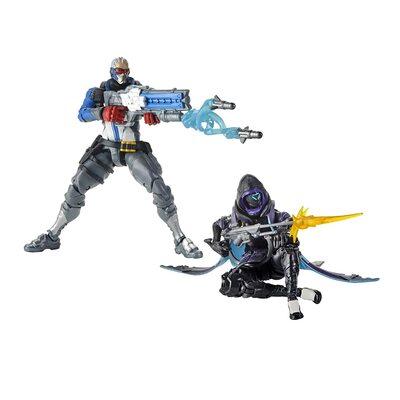 Солдат-76 и Ана Амари - Набор фигурок Overwatch (Hasbro Overwatch Ultimates Series Soldier: 76 & Shrike (Ana) Skin Dual Pack Collectible Action Figures) (фото)