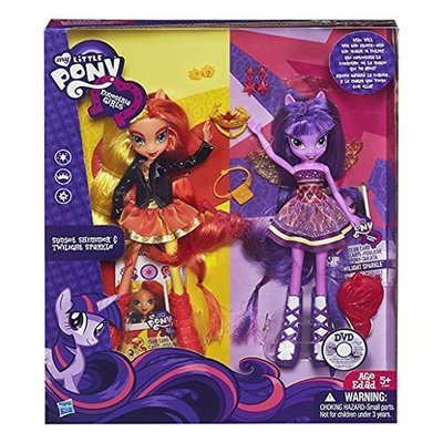Набор кукол Сансет Шиммер и Твайлайт Спаркл (Сумеречная Искорка) - Девочки из Эквестрии (My Little Pony Equestria Girls Sunset Shimmer and Twilight Sparkle Figures) (фото)