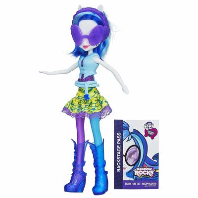 Кукла Диджей пон-3 - Девушки Эквестрии - Neon Rainbow Rocks (My Little Pony Equestria Girls DJ PON-3 Doll (Neon Rainbow Rocks)) (фото)