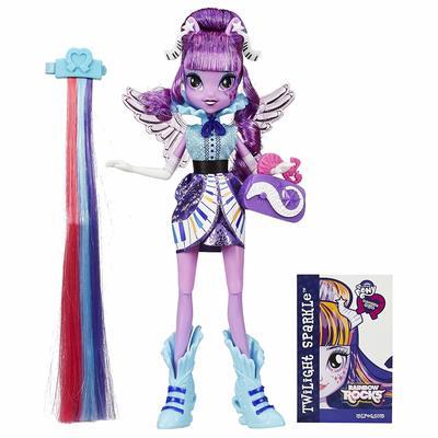 Кукла Твайлайт Спаркл - Девушки Эквестрии Rockin' Hairstyle (My Little Pony Equestria Girls Rainbow Rocks Twilight Sparkle Rockin' Hairstyle) (фото)