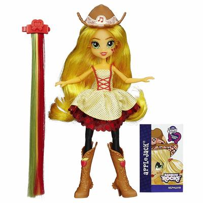 Кукла Эпплджек - Девушки Эквестрии Rockin' Hairstyle (My Little Pony Equestria Girls Rainbow Rocks Applejack Rockin' Hairstyle Doll) (фото)