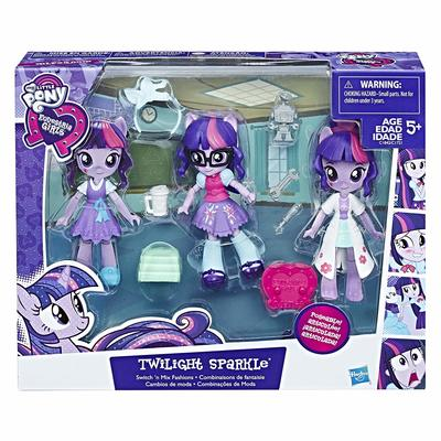 Мини кукла Сумеречная Искорка - модница (My Little Pony Equestria Girls Minis Switch 'n Mix Fashions Twilight Sparkle) (фото)