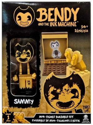 Мини конструктор с фигуркой Семми ( 26 дет.) (Bendy The Ink Machine Basic Fun Sammy Buildable Mini-Figure Set (26 Pieces))