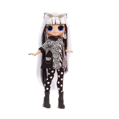 Кукла ЛОЛ Сюрприз! O.M.G. Стильная Груви Бэби, светящаяся в темноте, с 15 сюрпризами (L.O.L. Surprise! O.M.G. Lights Groovy Babe Fashion Doll with 15 Surprises) (фото)