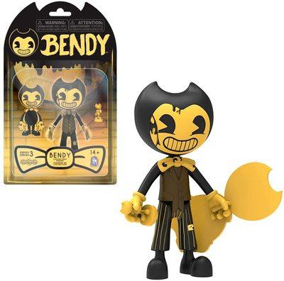 Фигурка Бенди - Бенди Темное Возрождение 3-серия (Bendy and The Dark Revival Action Figures (Cartoon Bendy)) (фото)