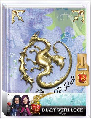Дневник Мэл «Наследники Диснея» с замком и ключом, для фанатов Mal и Disney (Disney Descendants Mals Diary Journal Book for Girls) (фото)