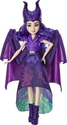 Кукла-трансформер Королева Дракон Мэл, «Наследники Диснея-3» (Disney Descendants Dragon Queen Mal, Fashion Doll Transforms to Winged Dragon) (фото)