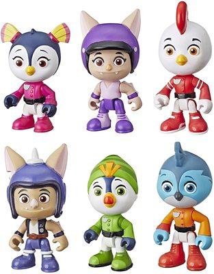 Набор из 6 фигурок, героев сериала «Отважные птенцы» (Top Wing 6-Character Collection Pack) (фото)