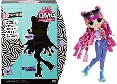 Кукла ЛОЛ Сюрприз O.М.G. 3 серия, Стильная Роллер Чик, с 20 сюрпризами (L.O.L. Surprise! O.M.G. Series 3 Roller Chick Fashion Doll with 20 Surprises) (фото)