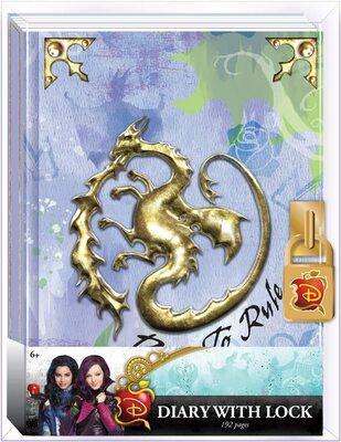 Дневник «Наследники Диснея» с замком и ключом, для фанатов Mal и Disney (Disney Descendants Mals Diary Journal Book for Girls) (фото)