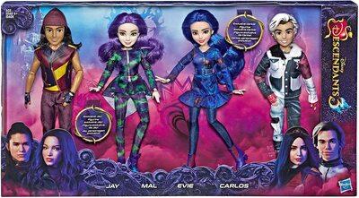 Коллекция «Остров Потерянных. Наследники Дисней-3» - 4 куклы: Иви, Мэл, Карлос и Джей. (Disney Descendants 3 Isle Of The Lost Collection 4 Pack Dolls) (фото)