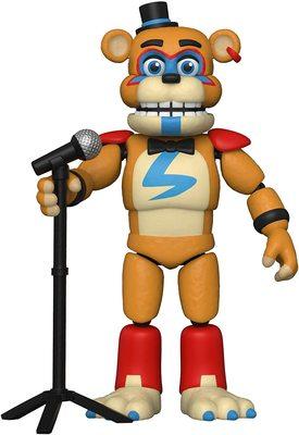 Глэмрок Фред подвижная фигурка - Нарушение Безопасности (Funko Action Figure: Five Nights at Freddy's, Security Breach - Glamrock Fred) (фото)