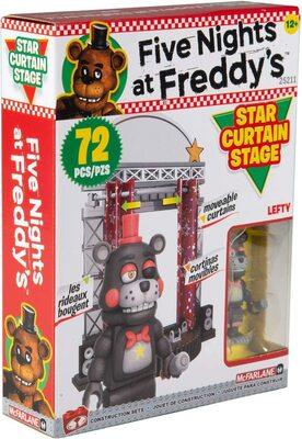 Звёздный занавес сцены - конструктор пять ночей с Фредди 72 дет. (McFarlane Toys Five Nights at Freddy's Star Curtain Stage Small Construction Set) (фото)