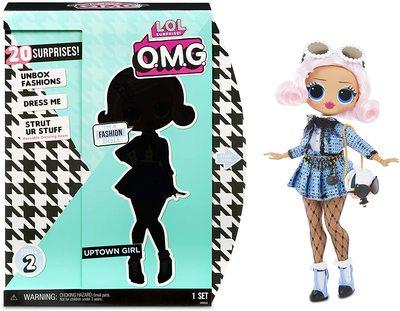 Кукла ЛОЛ Сюрприз О.М.G. Стильная Аптаун Гёл с 20 сюрпризами (LOL Surprise O.M.G. Uptown Girl Fashion Doll with 20 Surprises) (фото)