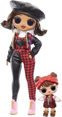 Кукла ЛОЛ Сюрприз О.М.G. Винте Чил Кэмп Кьюти с младшей сестренкой «Малышка в лесу» и 25 сюрпризами (LOL Surprise OMG Winter Chill Camp Cutie Fashion Doll & Sister Babe in The Woods Doll with 25 Surprises) (фото)