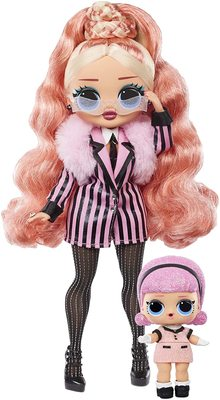 Кукла ЛОЛ О.М.G. Винте Чил Биг Виг с младшей сестренкой Мадам Квин и 25 сюрпризами (LOL O.M.G. Winter Chill Big Wig Fashion Doll) (фото)