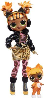 Кукла ЛОЛ О.М.G. Винте Чил Мисси Мяу с младшей сестренкой «Малышка Кэт» и 25 сюрпризами (LOL O.M.G. Winter Chill Missy Meow Fashion Doll & Baby Cat Doll) (фото)