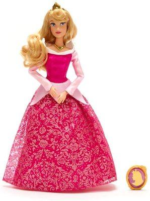 Кукла Принцесса Аврора с подвеской - «Спящая Красавица» - Дисней (Disney Aurora Classic Doll with Pendant – Sleeping Beauty) (фото)
