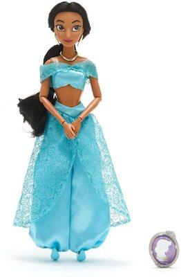 Кукла Жасмин с подвеской - «Аладдин» - Дисней (Disney Jasmine Classic Doll with Pendant – Aladdin) (фото)