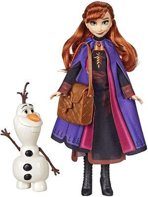 Кукла Анна с фигуркой Олафа и походной сумкой - «Холодное сердце 2» - Дисней (Disney Frozen Anna Doll with Buildable Olaf Figure) (фото)