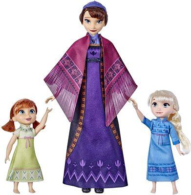 Набор: Кукла Королевы Идуны, поющая колыбельную, с малышками Эльзой и Анной - «Холодное сердце 2» - Дисней (Disney Frozen 2 Queen Iduna Lullaby Set with Elsa and Anna Dolls) (фото)