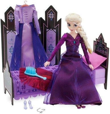 Набор «Спальня» с куклой Эльзой - «Холодное сердце 2» - Дисней (Disney Elsa Classic Doll Bedroom Play Set – Frozen 2) (фото)