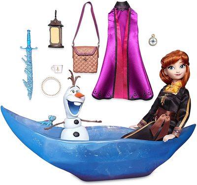 Набор «Приключение» с куклой Анной и фигуркой Олафа - «Холодное сердце 2» - Дисней (Disney Anna Classic Doll Adventure Play Set – Frozen 2) (фото)