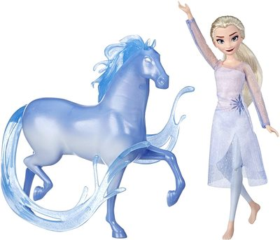 Набор: кукла Эльза и фигурка лошади Нокк - «Холодное сердце 2» - Дисней (Disney Frozen Elsa Fashion Doll & Nokk Figure Inspired by Frozen 2) (фото)
