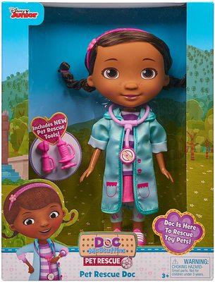 Кукла Дотти - ветеринар в голубом халате - «Доктор Плюшева» - Дисней (Doc McStuffins Pet Rescue Doc Doll) (фото)