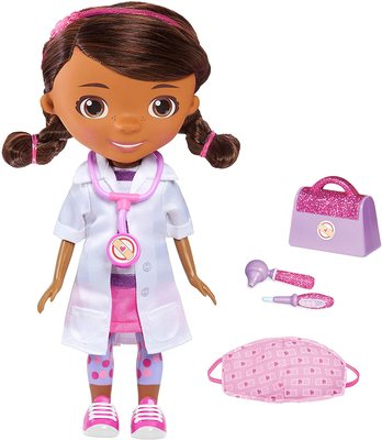 Кукла, поющая «Помой свои ручки», с маской и набором врача - «Доктор Плюшева» - Дисней (Doc McStuffins Disney Junior Wash Your Hands Singing Doll) (фото)