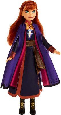 Кукла Анна поющая, в фиолетовой накидке - «Холодное сердце 2» - Дисней (Disney Frozen Singing Anna Fashion Doll with Music Wearing A Purple Dress) (фото)