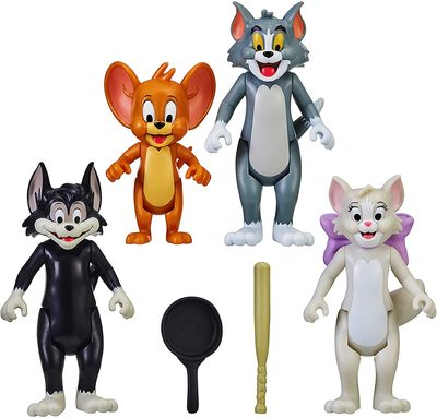 Набор из 4-х фигурок: Том, Джерри, Тутс, Бутч - «Том и Джерри» - Дисней (Tom & Jerry Figure - Four Pack) (фото)