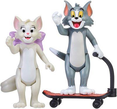 Фигурки Тутс и Тома на самокате - «Том и Джерри» - Дисней (Tom & Jerry Figure 2-Packs: Skateboarding Tom & Toots) (фото)