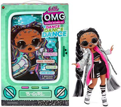 Кукла ЛОЛ Сюрприз О.М.G. Dance Dance Dance БиГёл (B-Girl) светящаяся с 15 сюрпризами. (LOL Surprise OMG Dance Dance Dance B-Gurl Fashion Doll) (фото)
