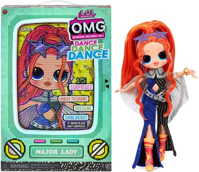 Кукла ЛОЛ О.М.G. Dance Dance Dance Мэйджор (Major) светящаяся с 15 сюрпризами. (LOL OMG Dance Dance Dance Major Lady Fashion Doll) (фото)
