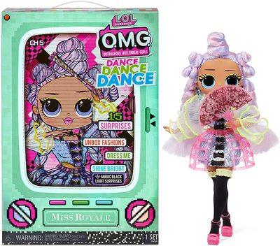 Кукла ЛОЛ О.М.G. Dance Dance Dance Ройала (Royale) светящаяся с 15 сюрпризами. (LOL OMG Dance Dance Dance Miss Royale Fashion Doll) (фото)
