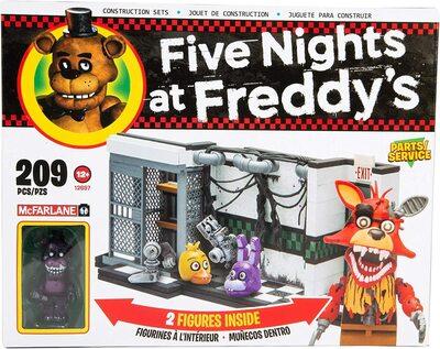 Запчасти и сервисное обслуживание - конструктор пять ночей с Фредди 209 дет. (McFarlane Toys Five Nights at Freddys Parts & Service Medium Construction Set) (фото)