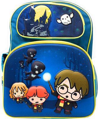 Бирюзовый рюкзак с Гарри, Роном и Гермионой, убегающими от дементоров (Harry Potter Teal Backpack with Hedwig, Harry, Ron & Hermione Running from Dementors) (фото)