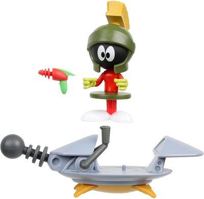 Марвин Марсианин с космическим кораблем из серии «Космический джэм - Новое Наследие». (SPACE JAM: A New Legacy - Baller Action Figure - Marvin The Martian with Spaceship) (фото)