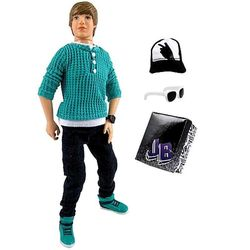 Джастин Бибер (Justin Bieber JB Style Collection Real Hairstyle Doll - Green Hoodie and Jeans)